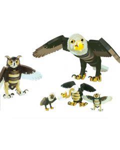 Set Puzzle 3D BLOCKS Vultur&Bufnita
