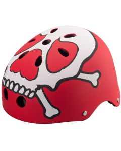 Casca de Protectie Streetrunner® Stunt Resistance ABS Red Skull, marime universala