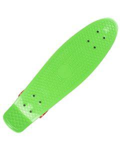 """Skateboard 27"""" ACTION RUNNER, Aluminiu, 100 kg, ABEC-7 Verde cu roti rosii"""