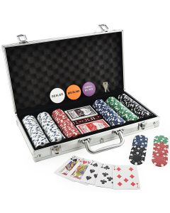 Set de Poker Deluxe Master, 300 Jetoane, 11.5g