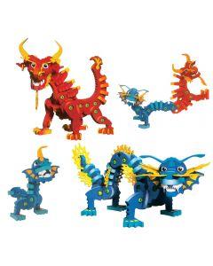 Set Puzzle 3D BLOCKS Fire&Frost Dragons