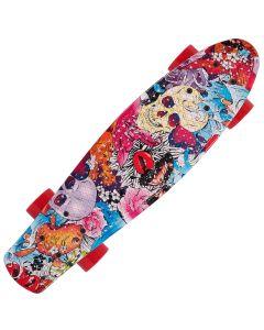 Penny Board Action® Xpload II ABEC-9, PU, Aluminium, Colourful Skull