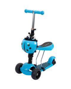Trotineta Action Big Wheels 3 IN 1 cu roti luminoase si late Albastra