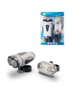 Set Far (lanterna) si Stop cu led SJ09-15 alb-negru
