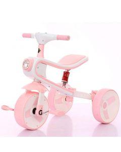 Tricicleta/bicicleta Smart Kid 3 in 1 cu lumini si sunete, roz