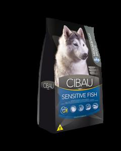 Hrana Uscata pentru Caini Cibau Adult Sensitive cu Peste Medium si Maxi 12 kg