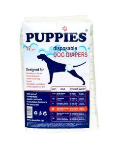 Scutece pentru caini Puppies, M, 12 buc