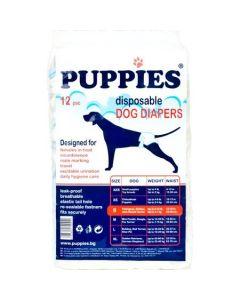 Scutece pentru caini Puppies, S, 12 buc