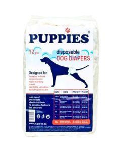 Scutece pentru caini Puppies, XL, 12 buc