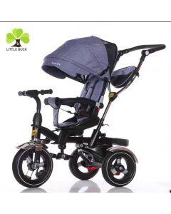 Tricicleta copii cu scaun reversibil 9 luni -5 ani,roti cauciuc plin
