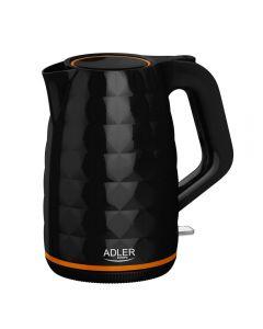 Fierbator Electric Adler, Capacitate 1.7L, Putere 2200W, Filtru Anticalcar si Baza Pivotanta, Culoare Negru