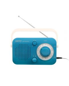 Radio Portabil Camry, AM/FM, Antena Telescopica, Maner, Culoare Albastru