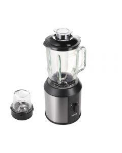 Blender Camry, Putere 1500W, Capacitate 1.3L, 2 Viteze, Functie Impuls si Zdrobire Gheata, Vas din Sticla