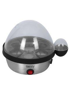 Aparat Fierbator de Oua Camry, 7 Compartimente, Putere 450W, Oprire Automata, Semnal Sonor si Luminos, Gri
