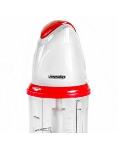 Tocator cu lame din inox, capacitate vas 0.5L, putere 300W, culoare alb/rosu