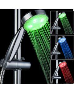 Capat de Dus Para Iluminat LED in 3 Culori in Functie de Temperatura Apei