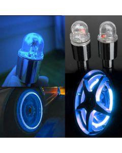 Set 2 capace, capacele ventil LED Culoare Albastru cu pornire automata