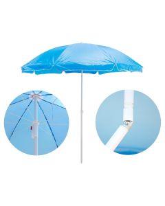 Umbrela Pliabila pentru Terasa, Curte sau Gradina, Culoare Albastru, Diametru 170cm, Unghi si Inaltime Reglabila 120-180cm