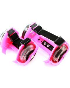 Set 2 Role pentru Copii cu Iluminare LED, Atasabile la Incaltaminte, Culoare Roz