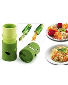 Aparat de taiat legume sau fructe in forma de spirala pentru decoratiuni