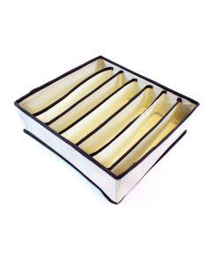 Organizator Pliabil pentru Sertare cu 7 Compartimente pentru Lenjeria Intima, Culoare Bej