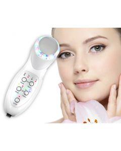 Aparat de masaj facial cu ultrasunete sau fototerapie cu lumina 2in1 10W pentru fermitatea  pielii si combaterea ridurilor