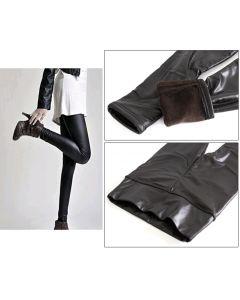 Pantaloni Colanti Tip Leggings Caldurosi pentru Dama, Marime S-M-L, Culoare Negru