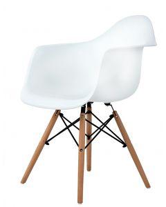 Scaun Modern in Stil Scandinav pentru Salon, Bucatarie, Sufragerie sau Terasa, Culoare Alb