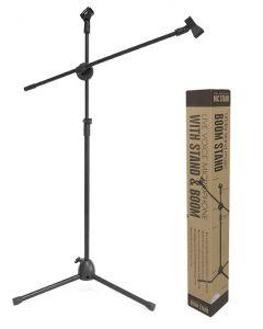 Stativ microfon profesional pe trepied din metal cu inaltime reglabila