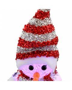 Om de zapada iluminat LED pentru Craciun, inaltime 21cm, decor pentru sezonul de iarna