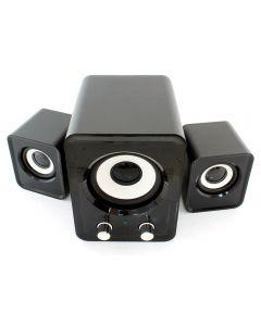 Sistem Audio 2.1, Putere 11W, 2 Boxe Stereo, Subwoofer, Alimentare USB pentru Laptop sau PC, Negru