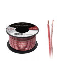 Cablu Audio Profesional pentru Difuzoare Auto, Lungime 10m, 2x1.00mm, Negru + Rosu