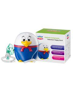 Aparat de Aerosoli Inhalator - Nebulizator cu Compresor pentru Bebelusi si Adulti, Forma de Rata + Accesorii Complete