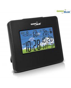 Statie Meteo Wireless cu Ceas Digital, Afisaj Umiditate, Temperatura, Data, Culoare Negru