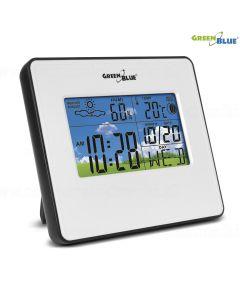 Statie Meteo Wireless cu Ceas Digital, Indica Umiditate, Temperatura, Data, Culoare Alb