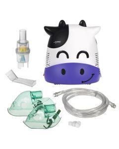Aparat de Aerosoli Inhalator - Nebulizator cu Compresor pentru Copii si Adulti, Forma de Vacuta + Accesorii Complete