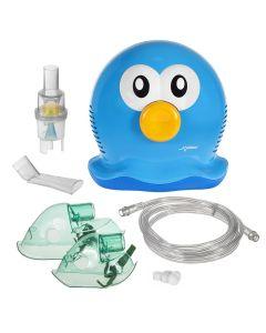 Aparat de Aerosoli Inhalator - Nebulizator cu Compresor pentru Copii si Adulti, Forma de Meduza + Accesorii Complete