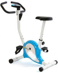 Bicicleta pentru Fitness FunFit, Multifunctionala cu Afisaj LCD, Reglabila, Culoare Albastru/Alb