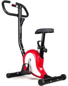 Bicicleta pentru Fitness FunFit, Multifunctionala cu Afisaj LCD, Reglabila, Culoare Rosu/Alb