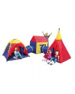Set Cort Pliabil 5-in-1 pentru Copii tip Iglu si Casuta cu Tunel Multicolor