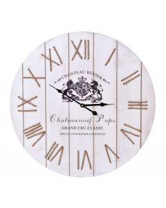 Ceas de Perete Modern CHATEAU din MDF, Diametru 60cm