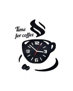Ceas de Perete 3D Modern COFFEE, Culoare Negru