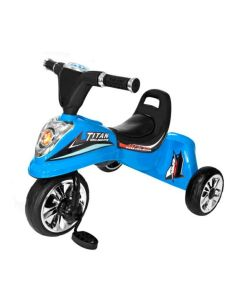 Tricicleta cu Pedale, Sunete si Lumini pentru Copii, Capacitate 25 kg, Culoare Albastru