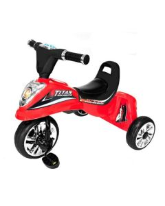 Tricicleta cu Pedale, Sunete si Lumini pentru Copii, Capacitate 25 kg, Culoare Rosu