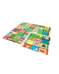 Covoras Educativ tip Puzzle din Spuma Moale, 4 Piese, 61x61cm, Multicolor