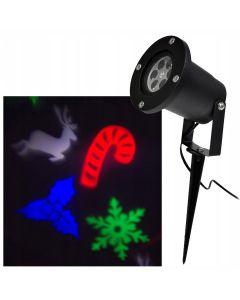 Proiector Laser LED Tip Star Shower 3D Metal Interior/Exterior, Efecte de Lumini pentru Craciun Multicolor
