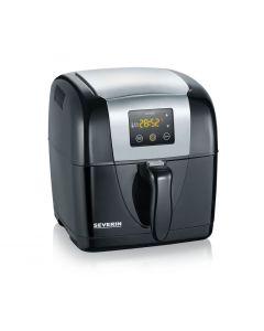 Friteuza Electrica Severin Air Fryer, Afisaj Digital, Putere 1300W, Capacitate 2L, Negru/Gri