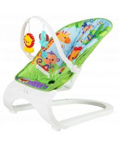 Scaun tip balasoar pliabil, cu sunete si vibratii, pentru bebelusi, multicolor