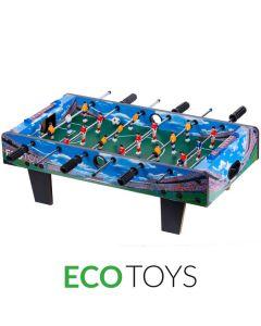 Masa Joc de Foosbal Mini Fotbal cu 18 Jucatori, Dimensiuni 70x36cm, Culoare Albastru