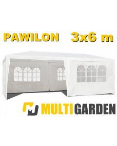 Cort Pavilion 3x6m pentru Evenimente, Curte sau Gradina, Pereti Laterali, Culoare Alb